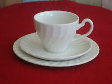 Vintage Johnson Brothers England Cup Saucer Plate Trio *Regency *White