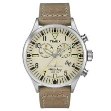 Timex Originals TW2P84200 Mens Waterbury Tan Leather Strap Chronograph Watch