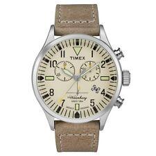 Reloj Cronógrafo Timex Originals TW2P84200 Hombre Correa Cuero Bronceado de Waterbury