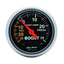Autometer 3303 Sport-Comp Boost/Vacuum Gauge  2-1/16 in., Mechanical