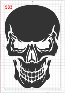 Great Big Scary Skull Stencil MYLAR A4 sheet strong reusable Art craft WallDeco