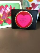 Kate Spade Pink Red Black Be Mine Just My Type Heart Card Holder Case Wallet