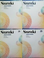 Suzuki Violin School Music Book Volumes 2, 3, 4, and 5