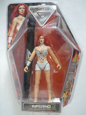 """GLADIATORS INFERNO 6"""" FIGURE WITH ACCESSORIES / 2008 / NEW & SEALED"""