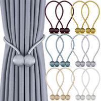 2 PC Magnetic Curtain Draper Tie Backs Hooks Buckles Clips Holdbacks Home Decor