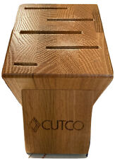 Cutco Gourmet 5 Slot Knife Wood Block Holder ~ Honey Oak Made in Usa