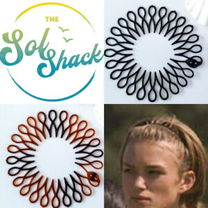Stretch Hair Band Sports Flexi Comb Toothed Surf Yoga Sport Shark Zig Zag New 7
