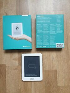 Kobo mini ereader ebook boxed with charging lead and documentation