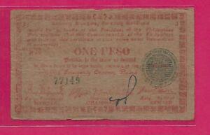 PHILIPPINES 1 PESO 1945 TREASURY EMERGENCY CERTIFICATE,WORLD WAR II GUERRILA NOT