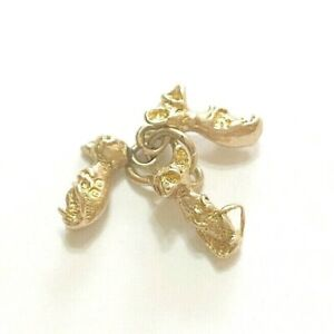 9ct 375 vintage gold three blind mice charm