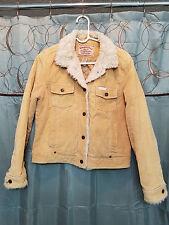 Aeropostale Women's Tan Faux Sherpa Cotton Jacket Sz L