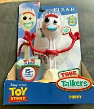 """Disney Pixar Action Figure Toy Story 4 Forky Talking True Talkers 7.2"""" Tall New"""