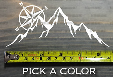 """The Mountains Are Calling Decal Sticker And I Must Go 5.5"""" Compass DIE CUT XO"""