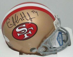 SF 49ers Hall of Famer SB Champ CHARLES HALEY Signed Mini Helmet AUTO -  BCA