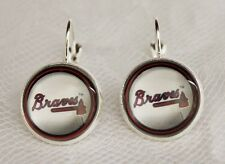 Atlanta Braves Earrings made from Baseball Trading Cards Great for Game Day