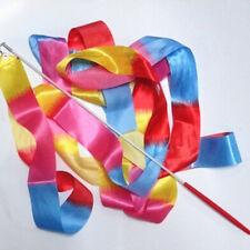 4m Kids Dance Ribbon  Gym Rhythmic Art Gymnastic Ballet Streamer Twirling Rod IB