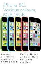 Apple iPhone 5C 8GB 16GB 32GB White Blue Green Pink  Unlocked Smartphone