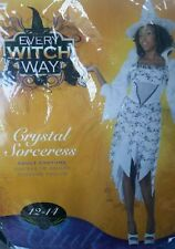 Crystal Sorceress White Witch Halloween Costume Women's Large size 12-14