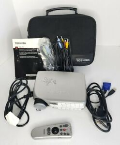 Toshiba TDP-P5 XGA Portable Multimedia Projector Tested Works, Remote,Cords& Bag