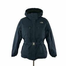 """The North Face """"Greenland"""" Blue Goose Down Belted Ski Jacket"""