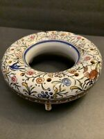 Conimbriga Ceramic Unique Circular Frog Footed Bud Vase Portugal Signed Tina