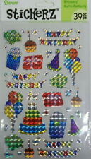 Holographic Birthday Stickers 39 Pcs  Darice  Free Shipping  NIP