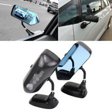 100% Carbon Fiber Race Car Door Mirror Out Side Anti-glare Non-Fold Bullet Style