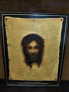 C1920 Print St Veronica's Handkerchief - Gabriel Von Max - Jesus illusion
