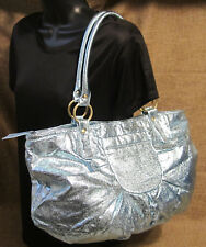 Carlos Falchi & mark Purse Rio Textured Faux Leather Sparkly Shoulder Bag NEW