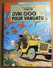 PASTICHE TINTIN - OVNI 666 POUR VANUATU. cartonné couleurs, couv. DE MOOR.