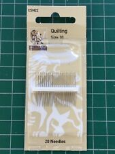 Williams Quality Hand Sewing -  Quilting Needles Size 10   20 needle pack