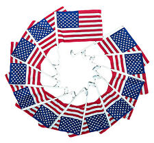 12 Pack 12x16 Usa American U.S.A. Car Window Clip on Vehicle 17inch Pole Flag