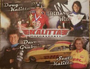 2008 NHRA Handout Scott n Doug Kalitta Hillary Will David Grubnic  Fast Shipping