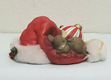 New ListingCharming Tails Nap Before Christmas Mouse Santa Hat Gift Decor Collect