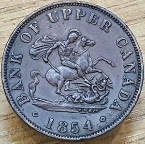 1854 Bank of Upper Canada Half-Penny Token