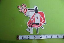New listing Wolf Smoking Eames Chair Retro Shag Pop Art Racing Skate Surfing Decal Sticker