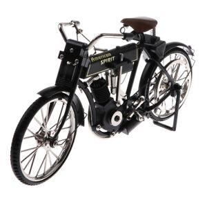 Handmade Vintage 1/10 Metal Bicycle Model Toy Classic Black Bike MY-0156