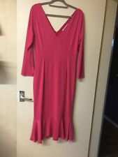 'Lady Voluptuous' Hot Pink Stretch Dress- Size 18
