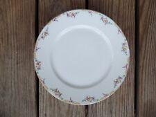 Vintage Wm Guerin 4 Floral Dinner Plates Limoges France GUE17 Gold Trim 9-3/4