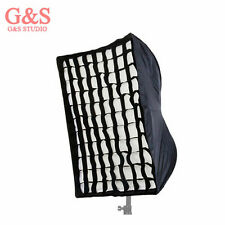 Photography 50 x 70cm Umbrella Rectangle Softbox with Grid For SpeedLight/Flash