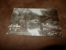 1920s fr postcard-The Lake - Aston Gardens - St Annes-on-sea - Lancashire