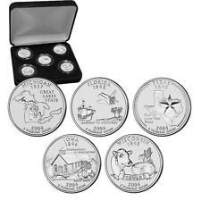 2004 Uncirculated US Mint State Quarters Set in Gift Box - BU Statehood Quarters