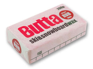 Butta Rub-on Ski & Snowboard Wax 200g + Free Base Preparation Guide