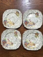 Four Vintage Empire Shelton Ivory England Crinoline Lady Small Plates High Tea