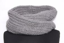 Dark Simple Grey Infinity Collar Scarf Keep Warm In Cold Days For Ladies (S172)