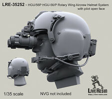 Live Resin 1/35 HGU-56/P Rotary Wing Aircrew Helmet System with Pilot (6pcs)