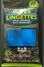 Electronic Cleaning Wipes 25 Sheets for LCD Screen Monitors TV Laptop Tablets