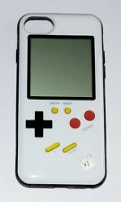 Cover iPhone 6/7/8 stile Gameboy Bianco con gioco Tetris funzionante