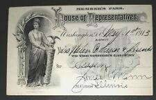 1913 House of Representatives Member's Pass
