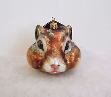 Slavic Treasures Ornament 2008 Chipmunk Head Hand Blown Glass Poland Nib (S3)